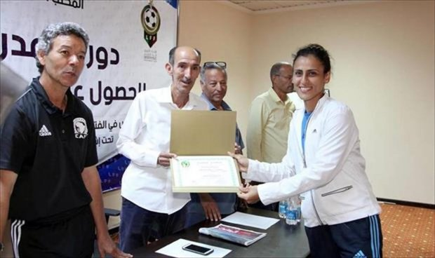 صحيفة الساعة // رشا ميلود سأقوم بتأسيس أول أكاديمية لكرة القدم النسائية في ليبيا