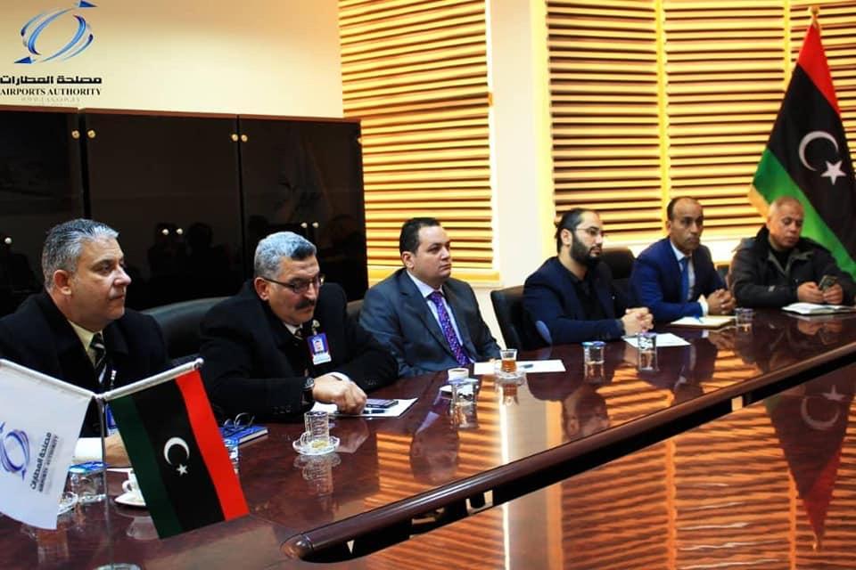 اجتماع مصلحة المطارات مع شركة الخطوط الجوية الليبية
