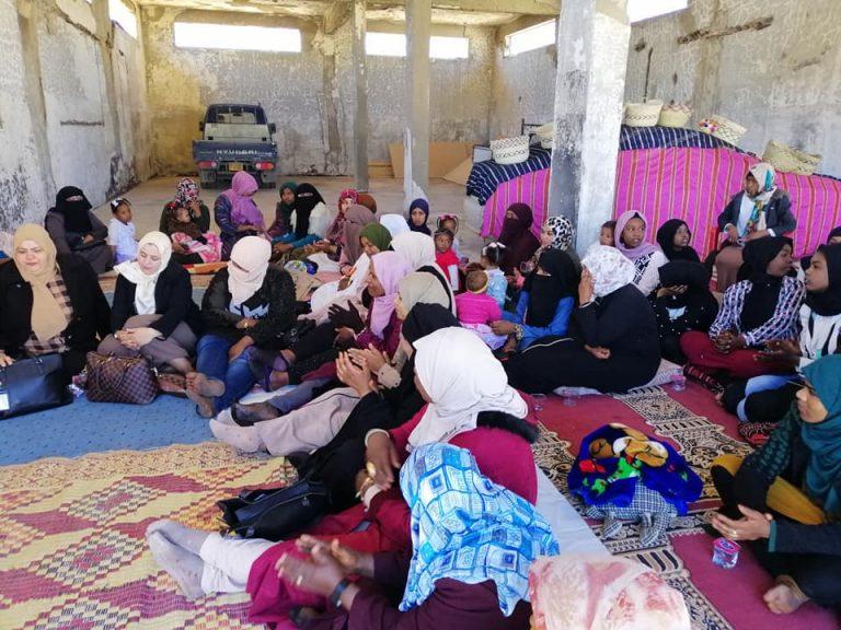 نائب وحدة تمكين المرأة تشارك نساء تاورغاء اليوم العالمي للمرأة