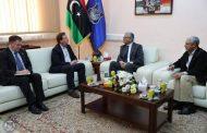 وزير الداخلية المفوض يستقبل سفير بريطانيا لدى ليبيا