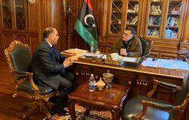 رئيس المجلس الرئاسي  يلتقي رئيس هيئة الشباب والرياضة