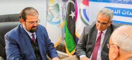 توقيع مذكرة تفاهم بين الوطنية للانشاءات والنفظية وبرقة ليبيا القابضة