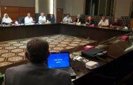 اجتماع لجنة متابعة الأزمة برئيس وأعضاء الهيئة العامة للمياه والصرف الصحي ..
