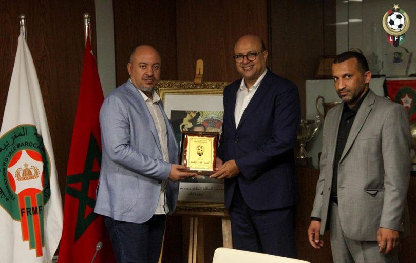 اتحاد الكرة يكرم القنصل الليبي بالرباط