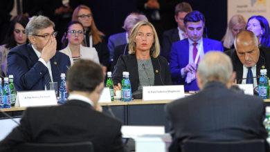أمام الاتحاد الأوروبي موغيريني تدعو الأمم المتحدة لمنع شحنات الأسلحة إلى ليبيا
