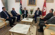 رئيس المجلس الرئاسي يُجري مُحادثات مع رئيس الوزراء التونسي يُوسف الشاهد