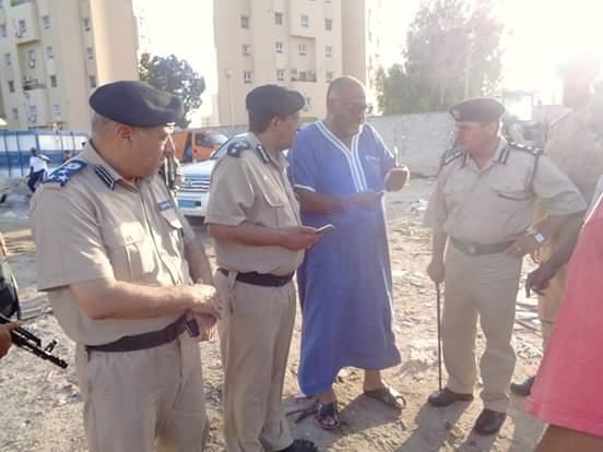 مدير أمن طرابلس يقوم بجولة تفقدية لمقر مكب أبو سليم