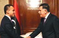 رئيس المجلس الرئاسي يستقبل وزير الخارجية الإيطالي